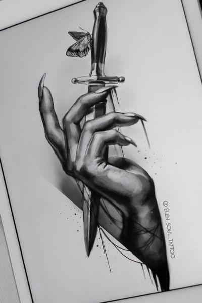 #elensoul #elensoul_art #knife #hand #dark #horror