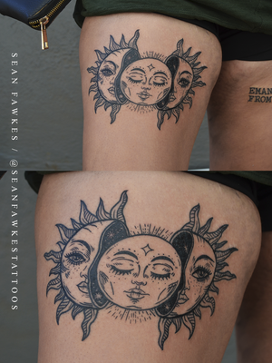 To The Moon And Back . . . #beautiful #triplegoddess for Chelsea by @sfawkestattoos - apologies for the warps, human bodies have round edges unlike sheets of paper. . . . FOR BOOKINGS : Email: info@kakluckytattoos.com Call: 021 422-2963 . . . #tattoo #tattoos #kakluckytattoos #mood #lekker #capetowntattoos #mood #love #staysafe #art #artists #wecandothis #belekker #safetyfirst #covid19prepared #goodvibes #keepsafe #art #artist #beauty #bigmood #instagood #instadaily #blackwork #script #mindthecurves #thightattoos #girlswithtattoos #slayalldayeveryday