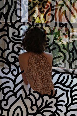 Available ideas! Will look good on your full back. 📩 marysinnerink@gmail.com for appointment 🤙 #hcmctattoo #marysinner #mrypk #ornameentaal #berbertattoo #oldline #boldtraditional #blackwork #thaitraditionaltattoo #vietnam #tattooflash #tattoodo
