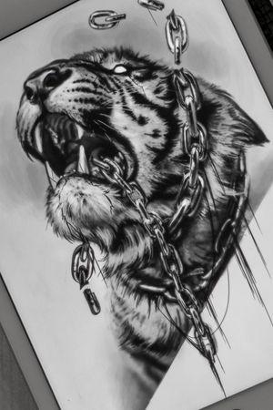 #elensoul #tiger #darktiger #tigertattoo #msk_tattoo #dark_ark