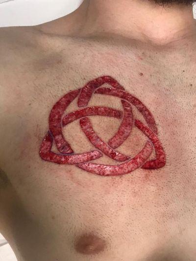 #Scarification #scar #rune #triqueta