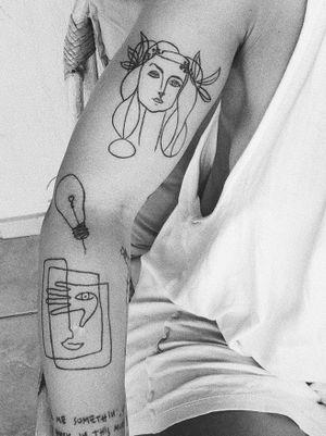 #picasso #picassotattoo #lines #line #lineworktattoo #linework #inked #inkedman #tattooart #tattoolover #tattoos #tattooartist #bishop #bishoprotary #tattoodo