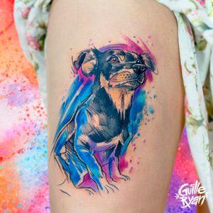 Perro 🐾 (sketch & watercolor) AGENDA ABIERTA BARCELONA S E P T I E M B R E Contacto: guilleryanarttattoo@gmail.com . . . . #animalillustration #dogtattoo #sketchstyle #watercolorartist #acuarela #illustration #barcelonailustracion #barcelona2020 #cataluniatattoo #tattoos #frikitattoos #tatuajes #dibujos