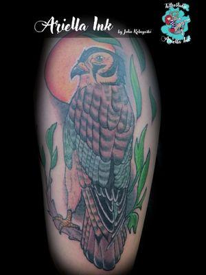 Neotraditional Hawk #tattoo #tattoos #freshink #freshlyinked #neotradeu #neotradsub #neotraditionaltattoo #neotraditional #hawk #hawktattoo #neotraditionalhawk #colortattoo