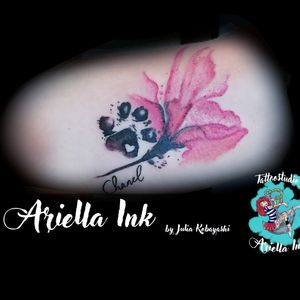 Watercolor Magnolia #tattoo #tattoos #freshink #freshlyinked #paw #pawtattoo #dogpaw #magnolia #watercolormagnolia #watercolor #watercolortattoo #aquarell #aquarelltattoo #magnoliatattoo
