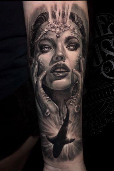 Mermaid tattoo #mermaid #mermaidtattoo #torontotattoo #torontotattoos