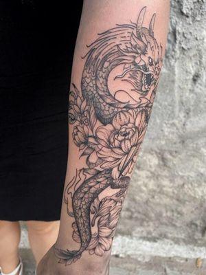 #dragon #lotus #kunai