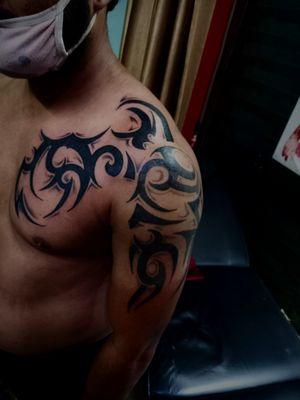 #meerut #getinkD #getinked #inkedmag #tattoodo #inkbox #tat #art #tattoo #artist #work #love #tribaltattoo #tattoosofinstagram #instagramtattoos #instagood #instamood #instagram #followme #followforfollowback #likeforlikes #saturday #tagblender #tattoosleeve #tattoodesign