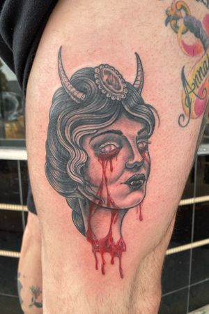 She Devil #demontattoo #shedevil #girlheadtattoo