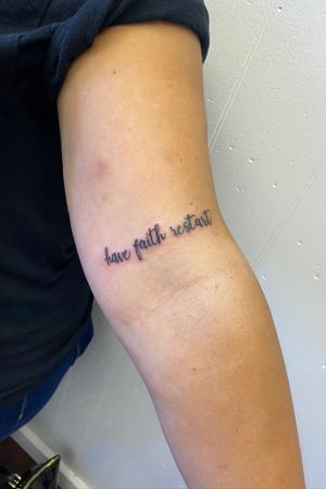 Micro Fineline quote tattoo inspirational quote