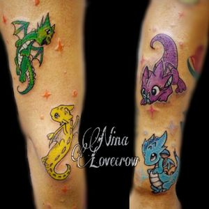 One does not need the size of a dragon to have the soul of a dragon. #Kawaii #chibitattoo #colortattoo #dragontattoo #LovecrowTattoos #Inked #BishopFamily #TattooLife #Tattoos #FemaleTattooArtist #BodyArt #InstaArt #PhotoOfTheDay #DynamicInk #TattooArt #TattooLovers #Tatuaje #StencilStuff #cutetattoo