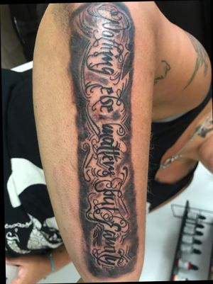 Forearm lettering odd to family