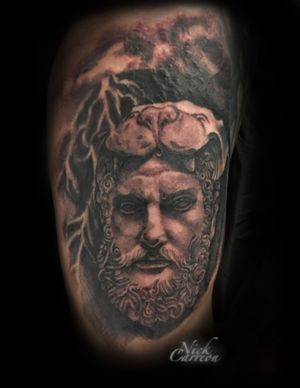 WIP Bearded Hercules statue that is not quite finished but was happy with the first session