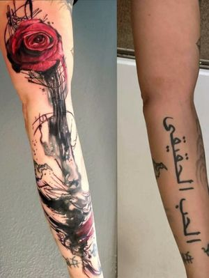 """""""There are things that we don't want to happen but have to accept, things we don't want to know but have to learn, and people we don't want to live without but have to let go."""" some chapters in our life nead a little editing i am honored i was able to help edit this story. #rosetattoo #coveruptattoo #abstractattoo #newbeginings #newchapter #life #tattooedwoman #abstractrose #watercolortattoo #strength #newday #pnwtattooartist #pnw #pdxtattoo #pdx #oregontattoo #oregoncitytattooartist #organic #vancouvertattoo"""