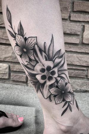 Columbine flower for the partner in crime