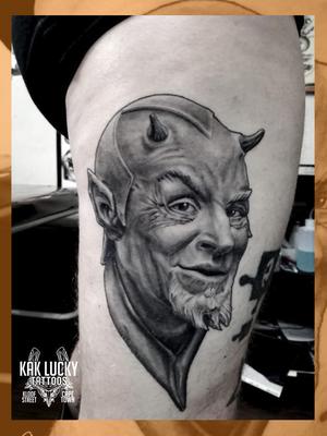 Lovely Luci . . . #brilliant #healed #portrait by @sfawkestattoos on Gareth Doye Tattoos . . . . @flashheal @creamtattoosupplyza @tattooinc.co.za @ecotatpro @electrumstencilproducts @dynamiccolor @blackclaw @south_african_tattoo_society . . . #tattoo #tattoos #kakluckytattoos #mood #socialdistancing2020 #lekker #capetowntattoos #mood #love #staysafe #art #artists #wecandothis #belekker #safetyfirst #covid19prepared #goodvibes #keepsafe #art #artist #beauty #bigmood #instagood #instadaily #luciferslawyer #devilinthedetails #blackandgreytattoo
