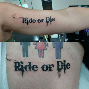 Bestie ride or die tatts