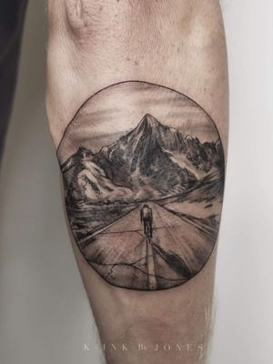 Let the tour begin. Ride or die Tattoo was done with a 0803rl and dynamic triple Black Tattoo took about 2 hours to do #bicycle #mountains #tourdefrance