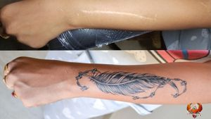#scarscoverup #with #feather #tattoo #bracelets #3dtattoo #scars #coveruptattoo #feathertattoo #oldnew #tattoolovers #tattooinspiration #tattoomeaning #neattattoo #thecleanestlinesinbusiness #perfectline #beatles #beatletattoo #chaintattoo #forearmtattoo #girlstattoo #tattoogirls #sexygirl #tattoodo #chandigarh #besttattoo #artist #mohalitattoo #chandigarhtattoo #feathertattoodesign