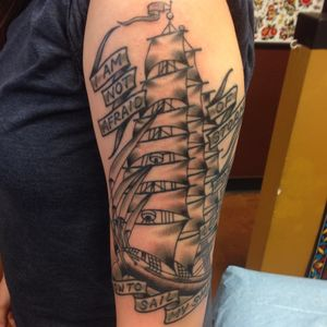 Clipper ship, half sleeve