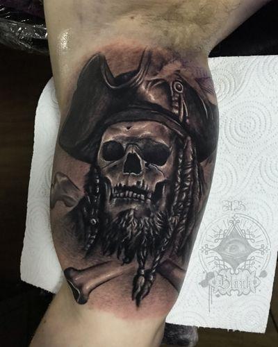 Pirate Skull 🏴☠️ . . . #pirateskull #pirateskulltattoo #pirate #pirates #piratetattoo #skull #skulltattoo #realistictattoo #portrait #tattooinliverpool #portraittattoo #ink #tattoos #inked #art #tattooed #tattooartist #tattooart #artist #drawing #inkedup #tattoolife #like4like #design #bodyart #instatattoo #tattooculture #black #tat #sketch
