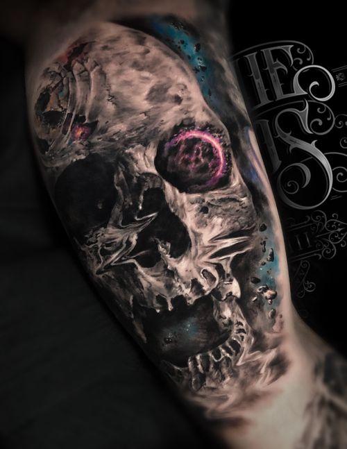 Space Skull #skull #space #galaxy