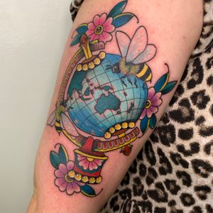 Globe and bees