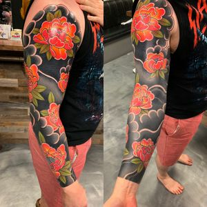 Cover up with Japanese flowers