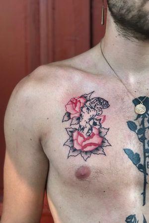 #drawing #tattoo #inked #ink #flashtattoo #tattooflash #paris #barcelona #bcn #paristattoo #sketchtattoo #sketch #tatouage #perso #charactersketch #france #dessin #blackwork #black #paint #bw #tattoo #tattoos #rose #girl