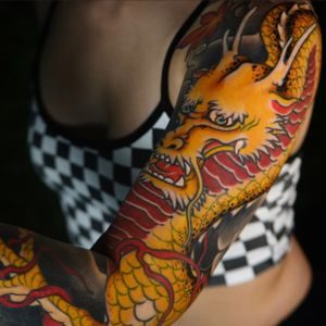 Dragon sleeve completed!