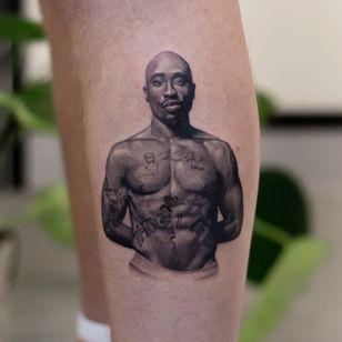 2 pac tattoo by xandermulder #xandermulder #2pac #music #rapper #realism #hyperrealism #portrait