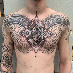 Chest and full sleeve done