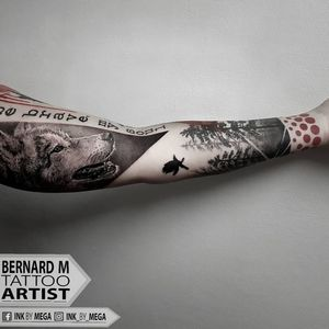 Finished Sleeve #göteborg #tattoo #ivorytowertattoo #bernardmarusic #tattooart #ink #bishoprotary #inkmag #wolftattoo #realistictattoo #realisticart #inked #inkmagazine #tattoomagazine #wolf