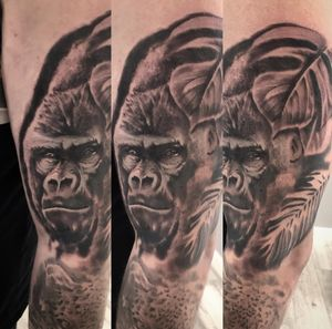 A part of full sleeve jungle theme, based on my design.