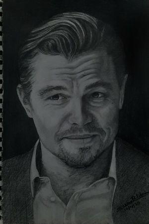 Pencil sketch @leonardo_dicaprio  #artlife #artist #artistsoninstagram #artwork #artlover #art #picoftheday #pen #portrait #live #sketch #keralite #kerala360 #kerala #kochi