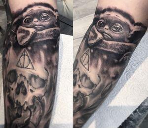 Tattoo based on Mandalorian movie by me:)