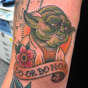 Fun Star Wars tattoo on Bobby