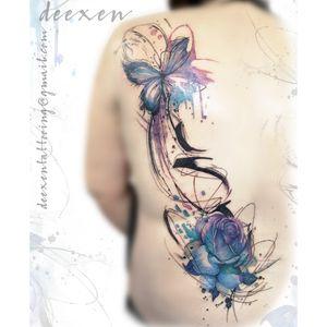Dancing like Butterfly Wings ➡️Contact: deexentattooing@gmail.com 🦋Merci Christele! . . . #tatouagefemme #aquarelleflowers #abstracttattoo #tatouages #aquarelletattoo #tatouagefleur #watercolortattoo #rosetattoos #tattoo #tatouageparis #butterflytattoo #papillons#deexen #deexentattooing