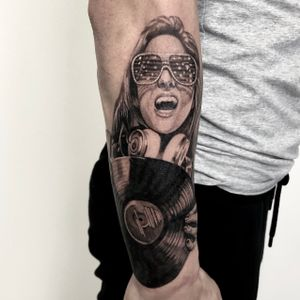 Part of sleeve in process.