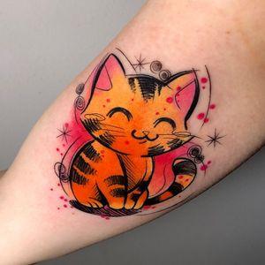 #londontattoos #kittentattoo #cattattoo #colourtattoo #cute