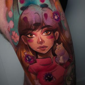 Interpretation of #spiritedaway #manga #anime #tattoos #london #chihiro #haku #noface #cloto.tattoos