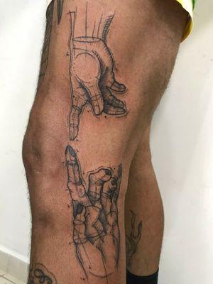 #criacaodeadao #tatuagem #sketchtattoo #scketch #saopaulo #tattoo releitura #autoral #homem #deus #macaco