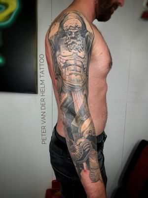 Full sleeve with Falanx and Atlas completely healed.