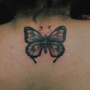 Butterfly tattoo, first time since the pandemic ! Feels good to be back #bayareatattooartists #butterfly