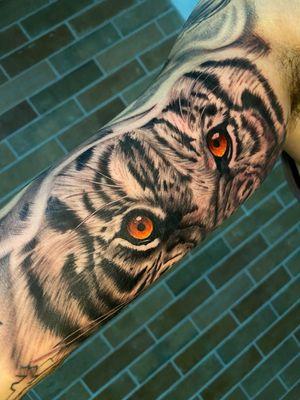 The #eyeofthetiger 🐯 . . #tattooart #tiger #bngtattoo