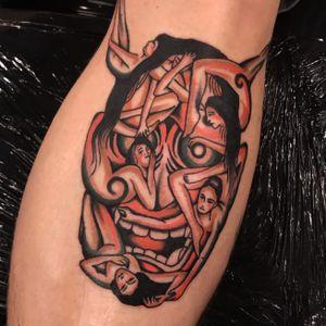 Hannya #traditional_tattoo #boldwillhold #tatuering #södermalm #eurotradtattoo #bright_and_bold #oldlines #tradwork #oldworkers #stockholmtattooartist #刺青