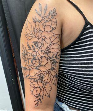Start of a flower sleeve