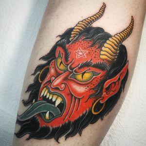 #devil #oldschool #traditional #sevendoorstattoo #manusantana