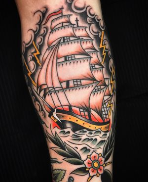 #ship #americana #oldschool #traditional #sevendoorstattoo #manusantana
