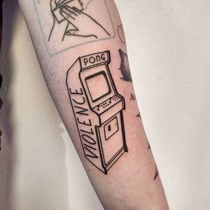 Arcade video game tattoo
